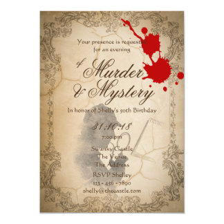 Mord-Geheimnis lädt das Vintage noble Pergament Karte