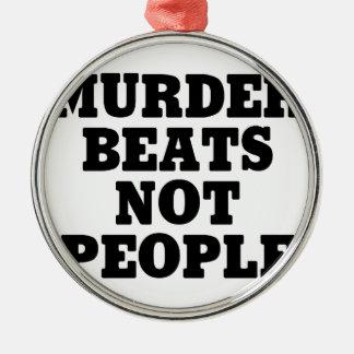 Mord-Schläge Silbernes Ornament
