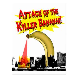 Mörder-Bananen! Postkarte