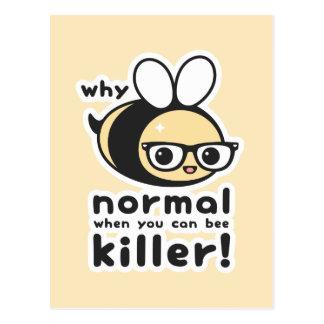 Mörder-Biene Postkarte