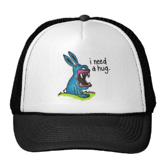 Mörder-blaues Häschen benötigt einen Umarmungs-Hut Retrokultcap