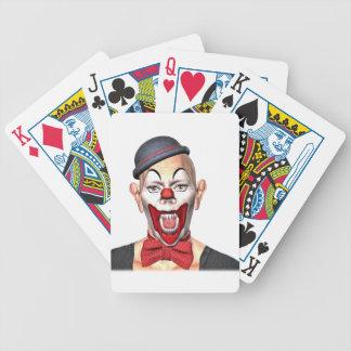 Mörder-Clown, der zur Front schaut Bicycle Spielkarten