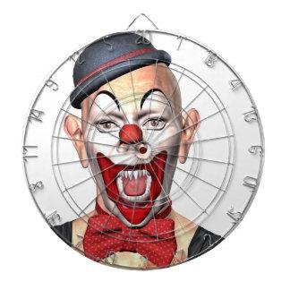 Mörder-Clown, der zur Front schaut Dartscheibe