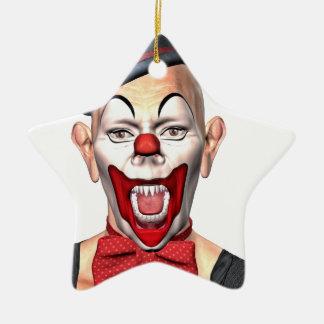 Mörder-Clown, der zur Front schaut Keramik Ornament