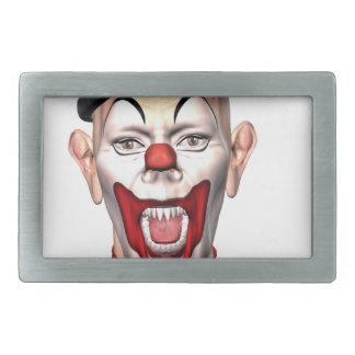 Mörder-Clown, der zur Front schaut Rechteckige Gürtelschnalle
