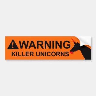 Mörder-Einhörner Autoaufkleber