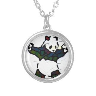 Mörder-Panda Versilberte Kette