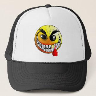 Mörder-smiley-Kappe Truckerkappe