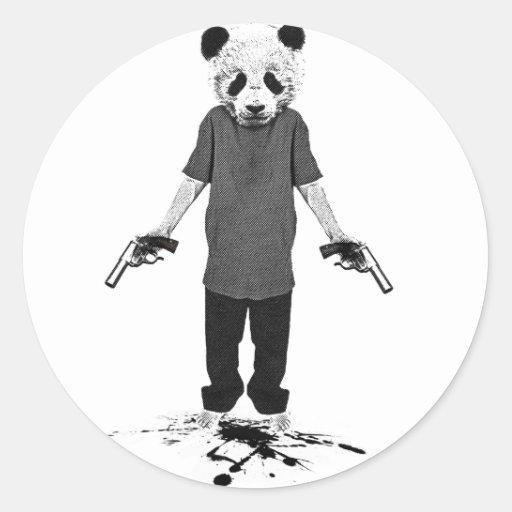 Mörderpanda Runde Sticker