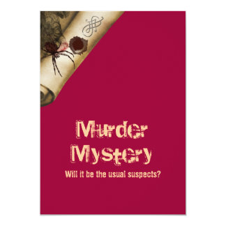 Morduntersuchung, das sie dun 12,7 x 17,8 cm einladungskarte