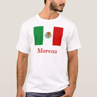 Moreno-mexikanische Flagge T-Shirt