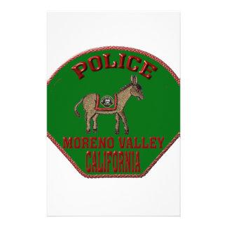 Moreno- Valleypolizei Briefpapier