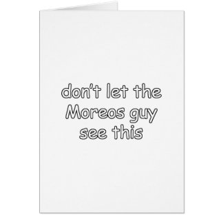 Moreos Grußkarte
