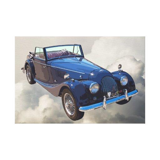 Morgan 1964 plus 4 das konvertierbare Sport-Auto Galerie Falt Leinwand