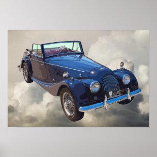 Morgan 1964 plus 4 das konvertierbare Sport-Auto Poster