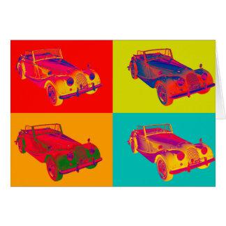 Morgan 1964 plus 4 Kabriolett-Pop-Kunst Karte