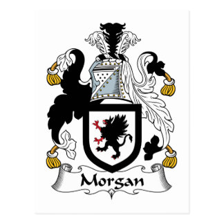 Morgan-Familienwappen Postkarte