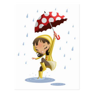 Morgan im Regen Postkarte