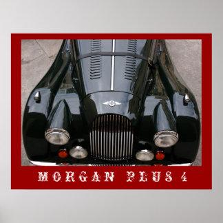 Morgan plus 4 - klassisches Auto Poster