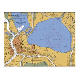 Morgan-Stadt, Louisianaseediagramm-Postkarte Postkarte