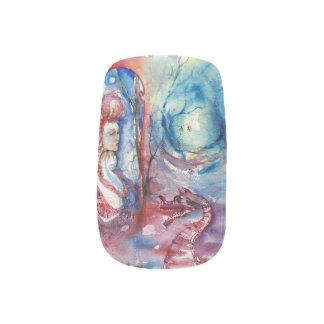 MORGANA/Magie und Geheimnis, rosa blaue Fantasie Minx Nagelkunst