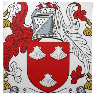 Morgen-altes Familien-Wappen Wappen Stoffserviette