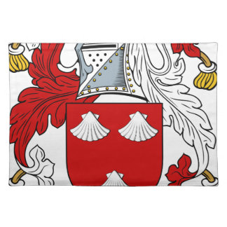 Morgen-altes Familien-Wappen Wappen Tischset