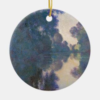Morgen auf der Seine nahe Giverny - Claude Monet.j Keramik Ornament