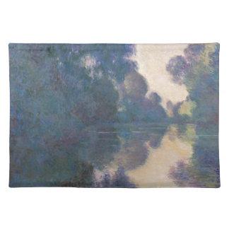 Morgen auf der Seine nahe Giverny - Claude Monet.j Stofftischset