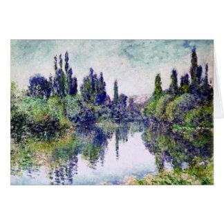 Morgen auf der Seine, nahe Vetheuil - Claude Monet Grußkarte