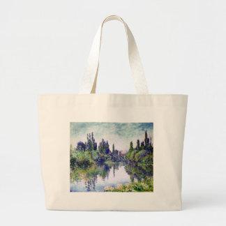 Morgen auf der Seine, nahe Vetheuil - Claude Monet Jumbo Stoffbeutel