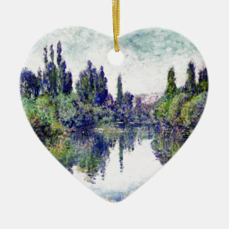 Morgen auf der Seine, nahe Vetheuil - Claude Monet Keramik Ornament