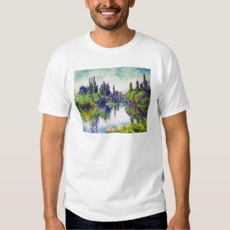 Morgen auf der Seine, nahe Vetheuil Claude Monet Shirts