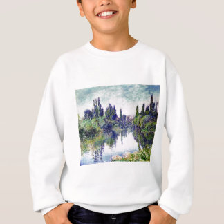 Morgen auf der Seine, nahe Vetheuil - Claude Monet Sweatshirt
