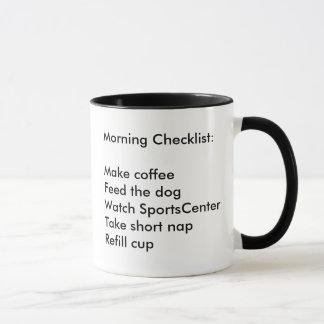 Morgen-Checklisten-Kaffee-Tasse Tasse
