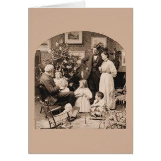 Morgen der Besuch des Großvaters Weihnachts Karte
