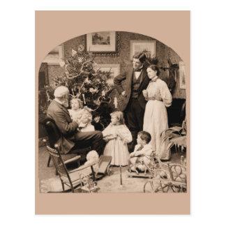 Morgen der Besuch des Großvaters Weihnachts Postkarte