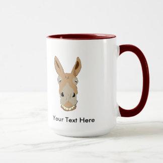 Morgen-Esel-Gesicht mit Lächeln Tasse