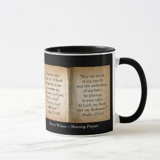 Morgen-Gebetescripture-Tasse (personalisiert) Tasse