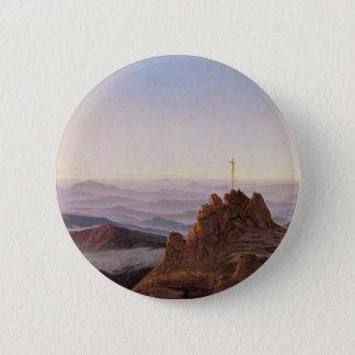 Morgen in Riesengebirge - Caspar David Friedrich Runder Button 5,1 Cm