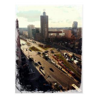 Morgen in Warschau Postkarte