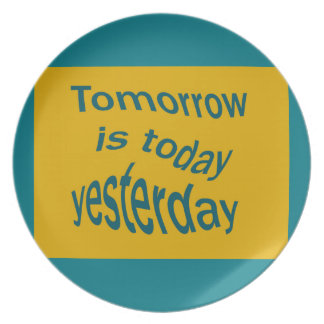 Morgen ist… melaminteller