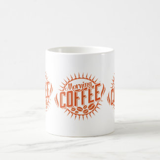 Morgen-Kaffee in der Orange Kaffeetasse