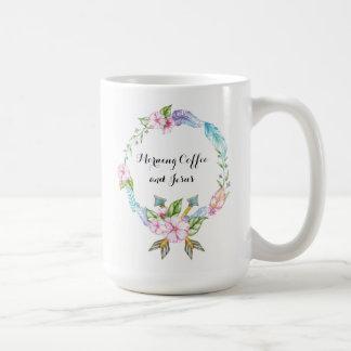 Morgen-Kaffee und Jesus-Klassiker-Tasse Kaffeetasse