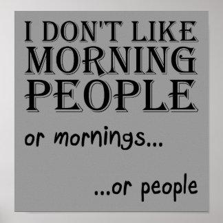 Morgen-Leute-Plakat Poster