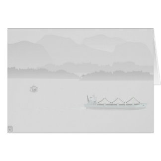 Morgen-Nebel-Anmerkungs-Karte Karte
