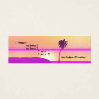Morgen-Palme - dünn Mini Visitenkarte