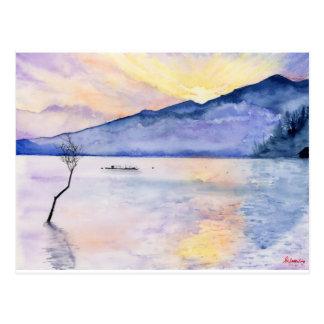 Morgen Rays Aquarellmalerei durch Suisai Genki Postkarte