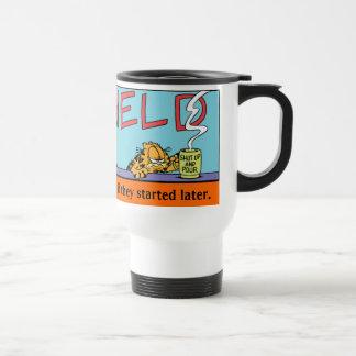 Morgen-Reise-Tasse Garfields Logobox