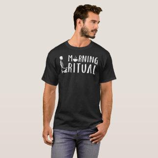 Morgen-rituelles Skeleton Kaffee-Geschenk-T-Stück T-Shirt
